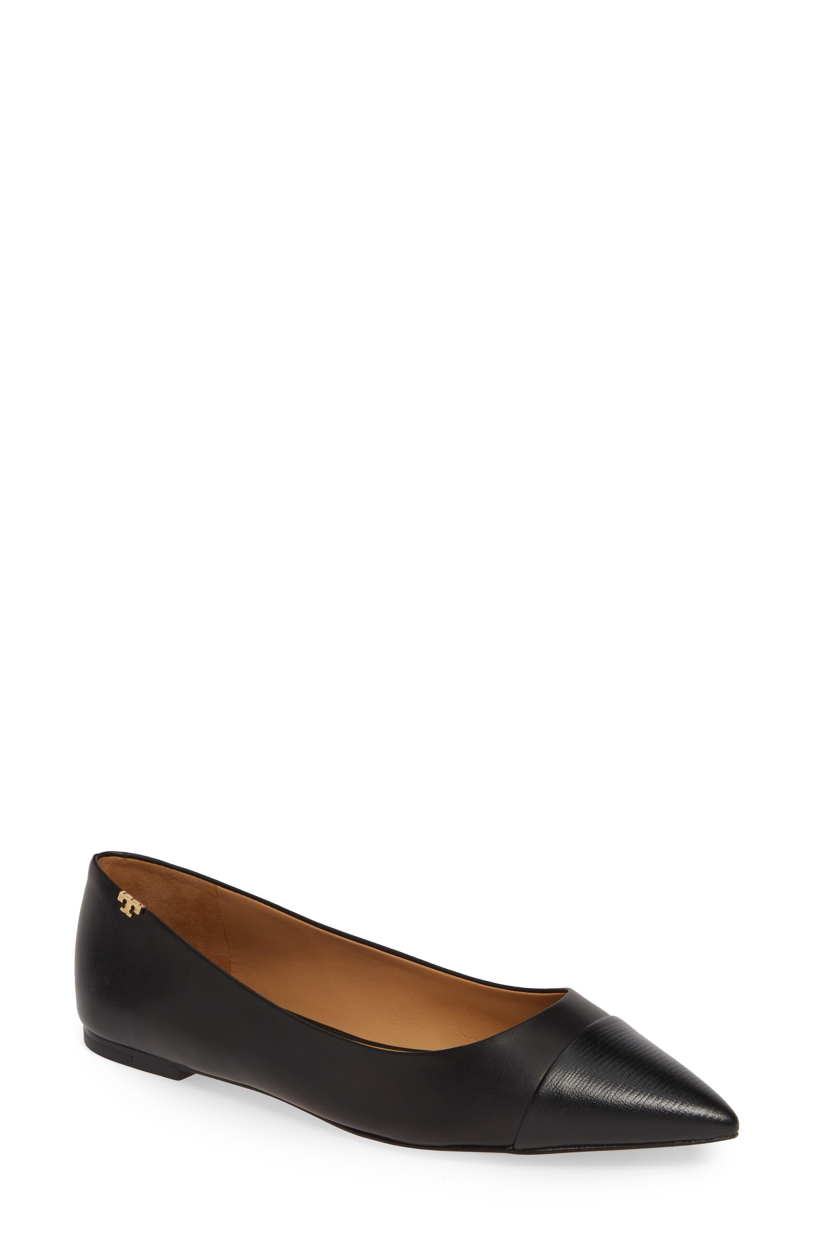 Penelope Cap Toe Flat, Main, color, 004