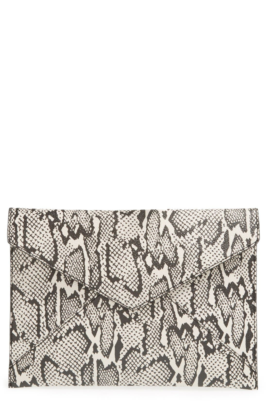 ,                             Leo Envelope Clutch,                             Main thumbnail 92, color,                             002