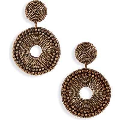 Panacea Beaded Circle Earrings