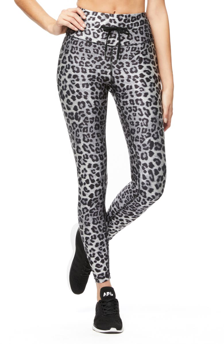 GOOD AMERICAN Leopard Print 7/8 Leggings, Main, color, 020