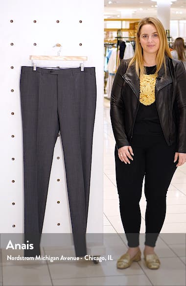 Flat Front Classic Fit Wool Trousers, sales video thumbnail