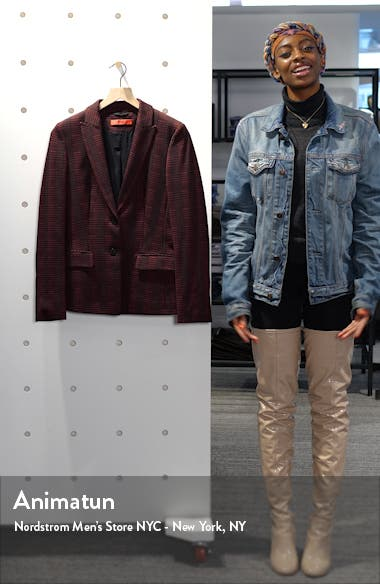 Houndstooth Plaid Long Jacket, sales video thumbnail