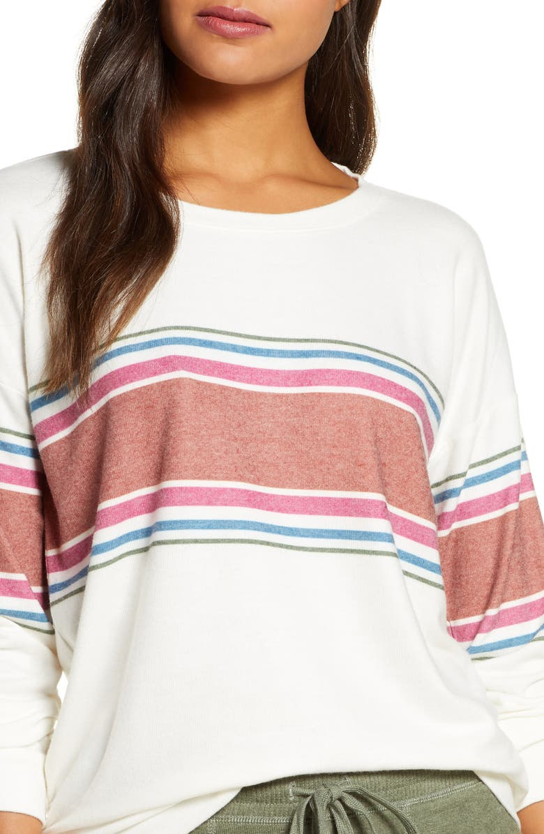 PJ SALVAGE Peachy in Color Top, Main, color, IVORY