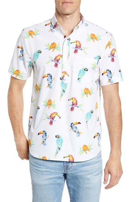Image of CHUBBIES Parrot Printed Slim Fit Shirt