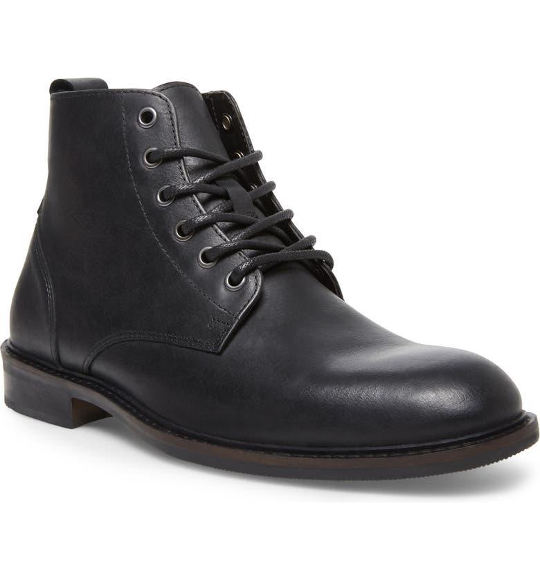 STEVE MADDEN Krank Plain Toe Boot, Main, color, 001