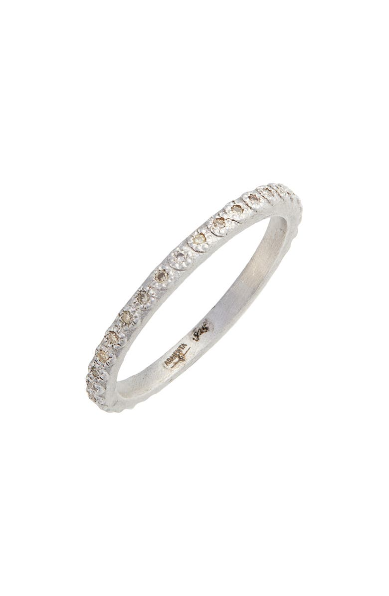 ARMENTA New World Silver Champagne Diamond Stacking Ring, Main, color, 040