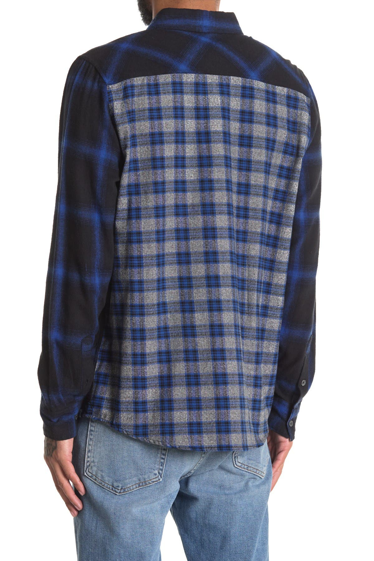 Image of Sovereign Code Local Legend Plaid Print Long Sleeve Shirt