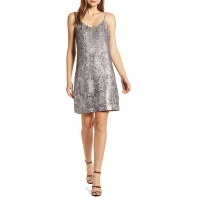 Cupcakes And Cashmere Candice Sequin Slipdress, Grey