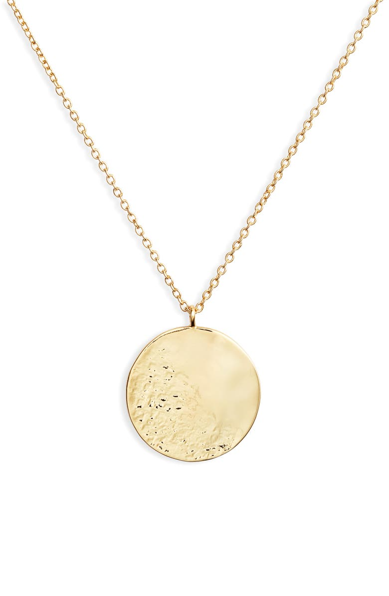 GORJANA Shaye Hammered Coin Necklace, Main, color, 710