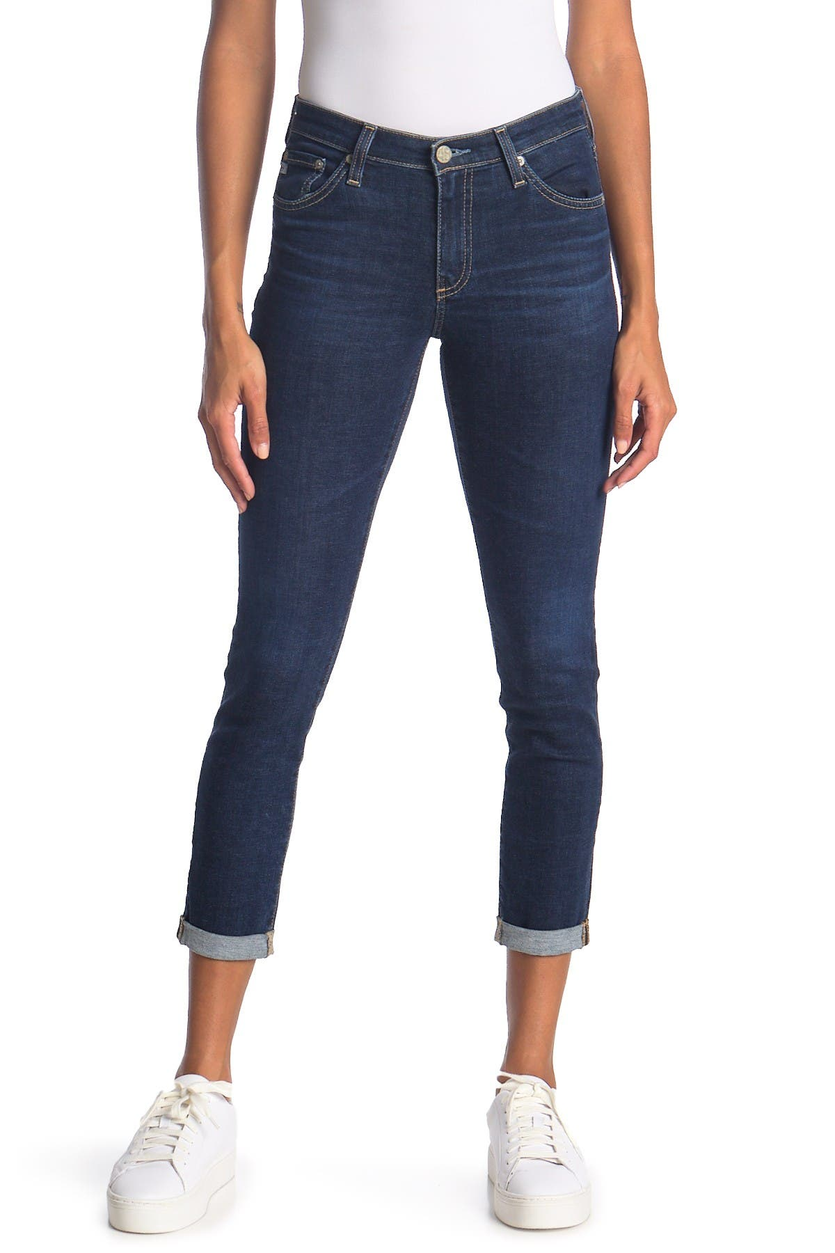 Image of AG Prima Roll Up Skinny Jeans
