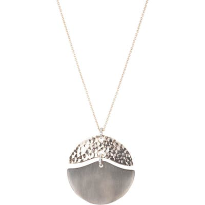 Alexis Bittar Hammered Metal Mobile Pendant Necklace