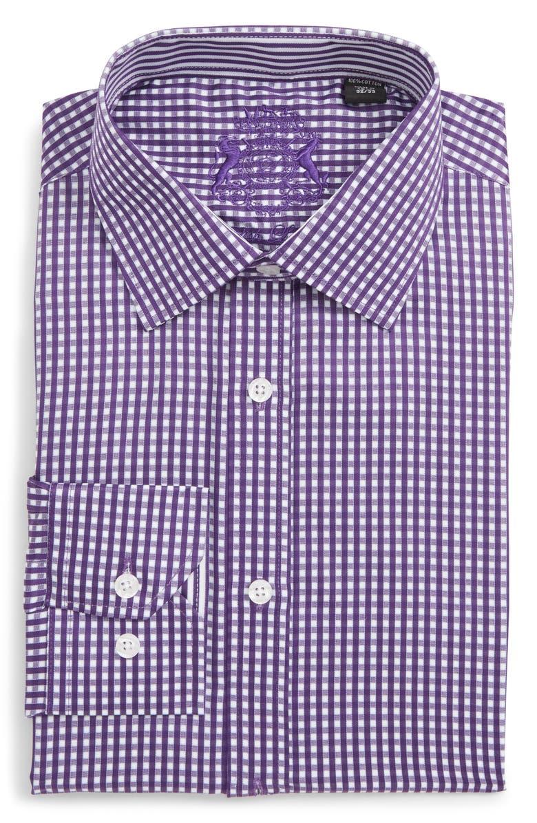 ENGLISH LAUNDRY Trim Fit Check Dress Shirt, Main, color, 530