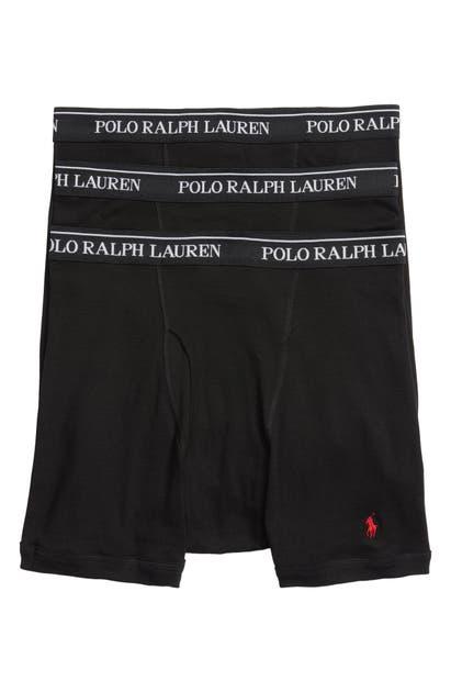 Polo Ralph Lauren Classic Fit Cotton Boxer Brief 3-pack In Multicolor