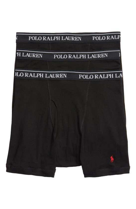 Polo Ralph Lauren Men's 3-pk. Classic Cotton Boxer Briefs In Multicolor