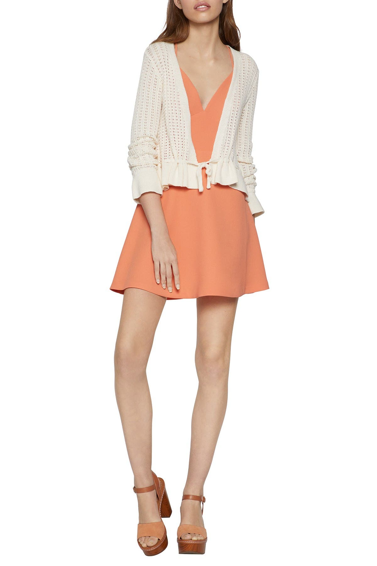Image of BCBGeneration Bell Cuff Knit Cardigan