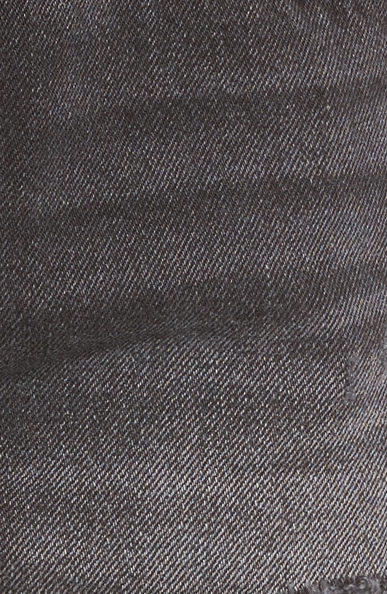 ,                             501<sup>®</sup> Cutoff Denim Shorts,                             Alternate thumbnail 5, color,                             TRASHED BLACK
