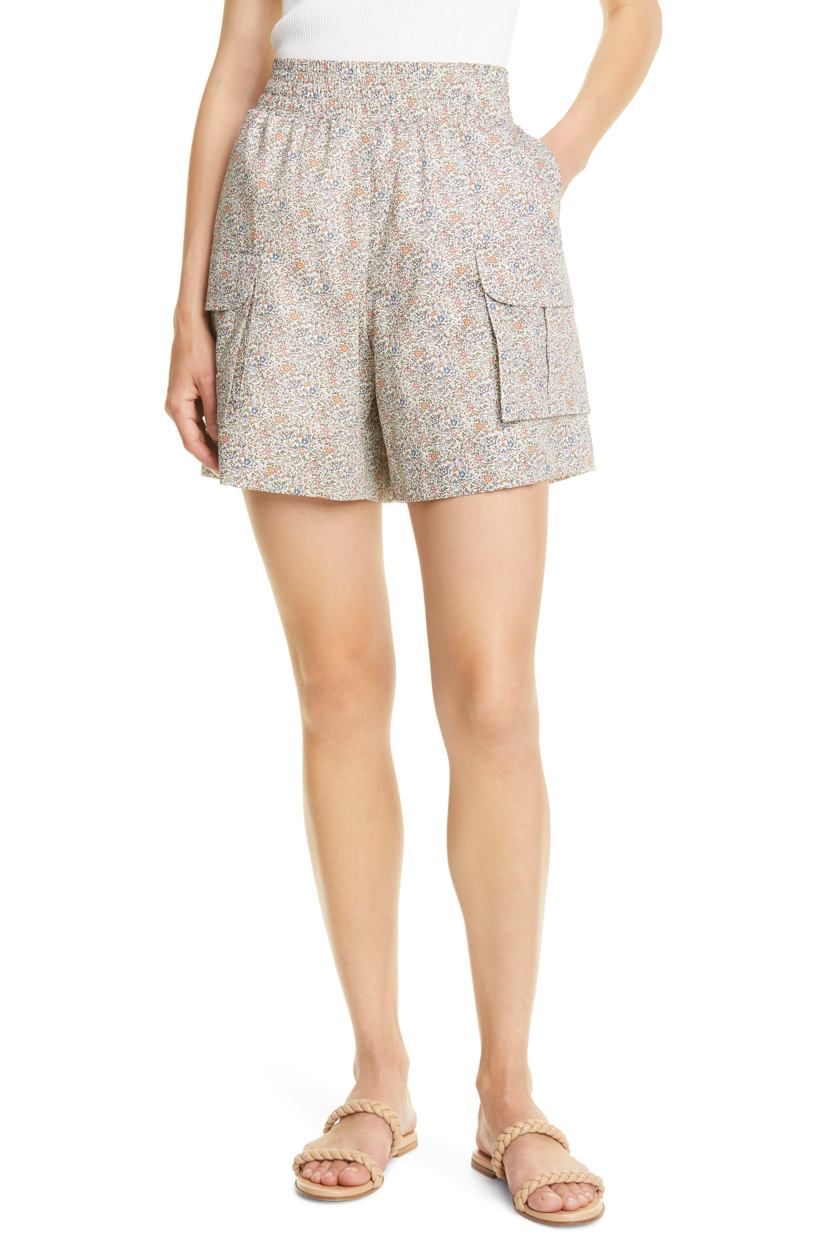 Berta Floral Organic Cotton Shorts