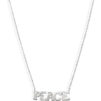 Anzie Love Letter Peace Pendant Necklace