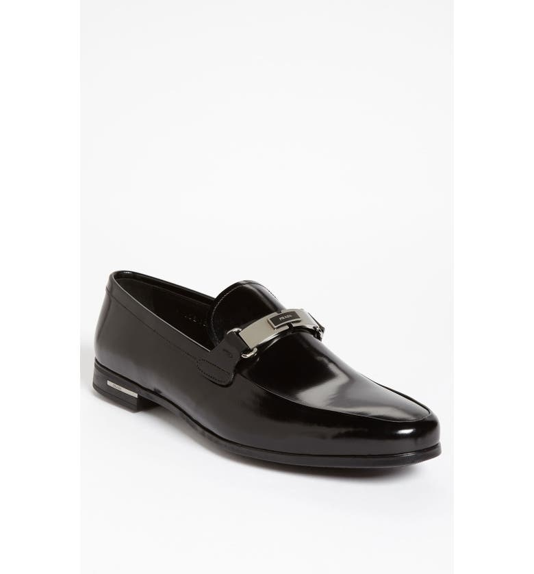 PRADA Bit Loafer, Main, color, 001