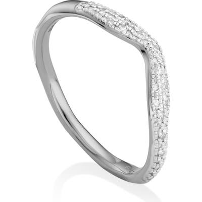 Monica Vinader Riva Diamond Stacking Ring