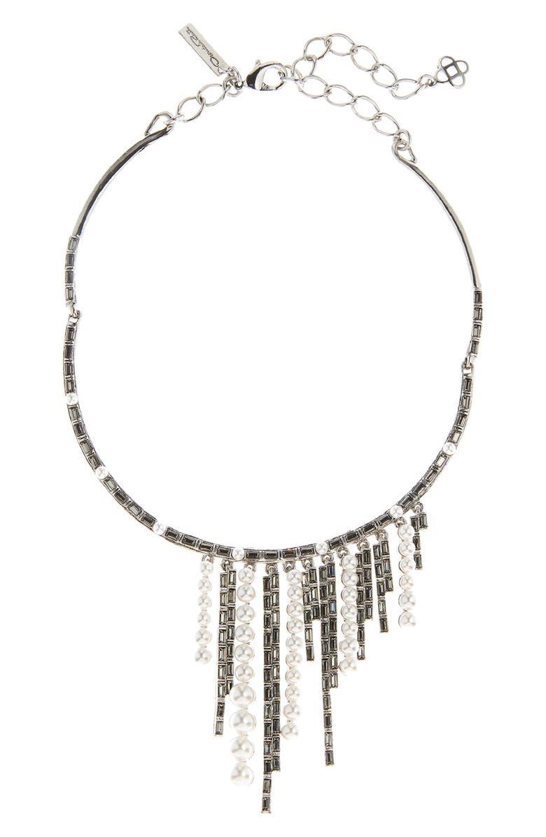 Bead & Crystal Choker Necklace by Oscar De La Renta