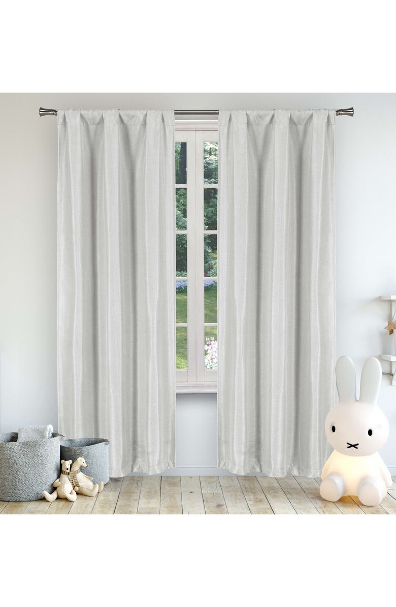 LALA + BASH Miranda Blackout Window Panels, Main, color, GREY
