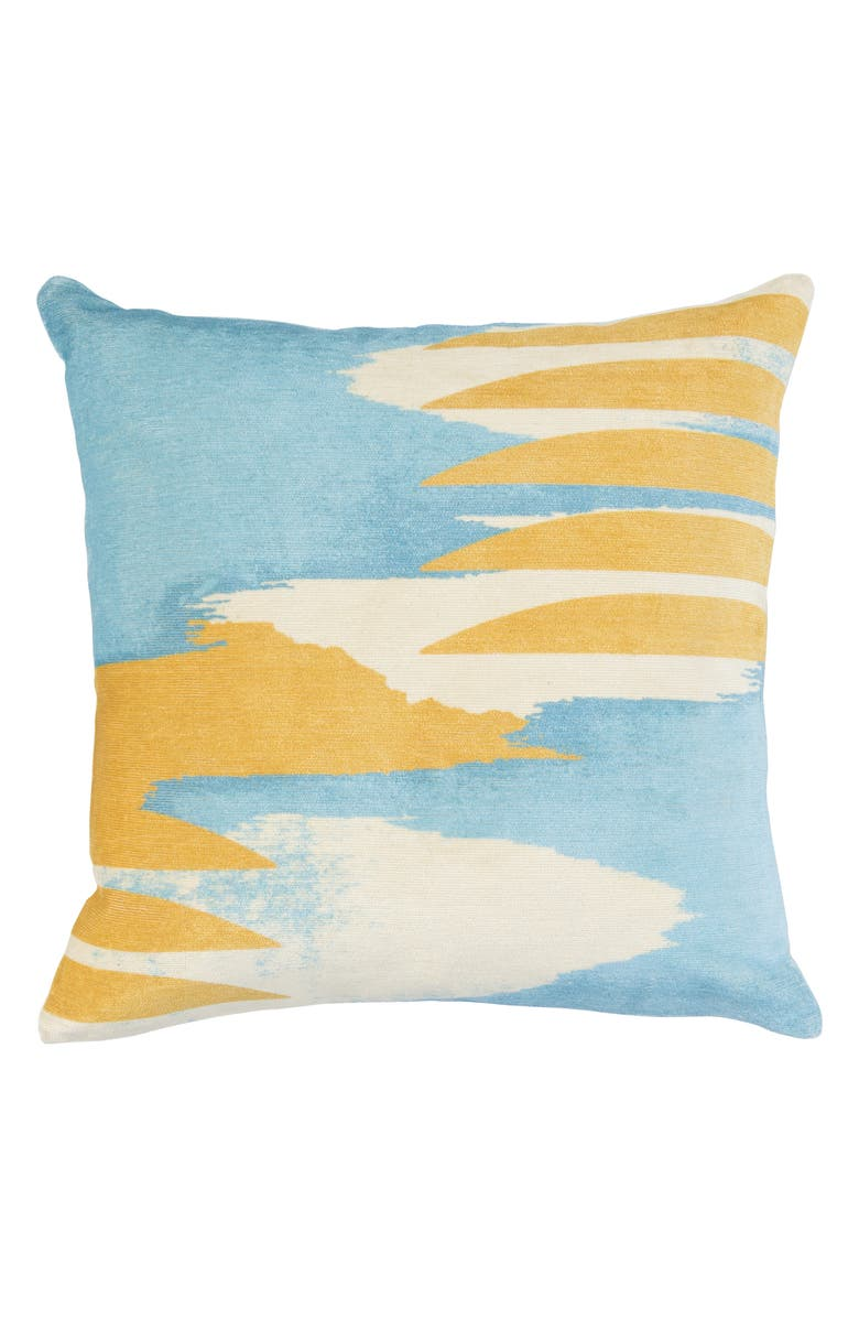 VILLA HOME COLLECTION Beatriz Accent Pillow, Main, color, BLUE/ YELLOW