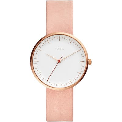 Fossil Essentialist Leather Strap Watch,