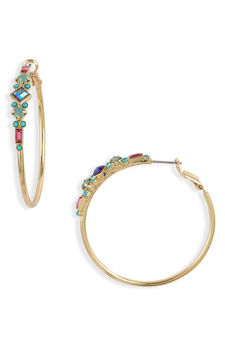 SORRELLI Sadie Hoop Earrings, Main, color, BRIGHT GOLD TONE BRIGHT