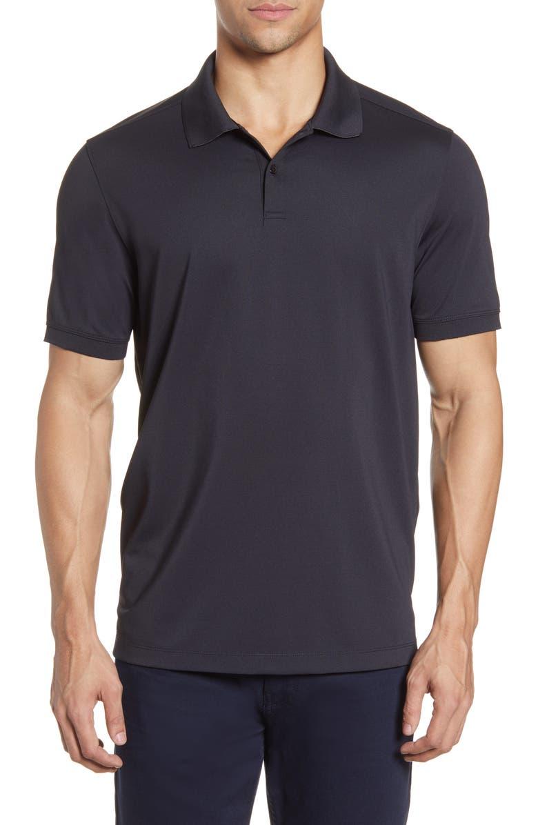 NORDSTROM MEN'S SHOP Tech-Smart Regular Fit Piqué Polo, Main, color, BLACK