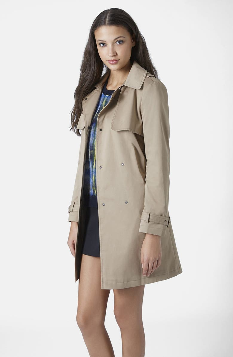 TOPSHOP Belted Trench Coat, Main, color, 252
