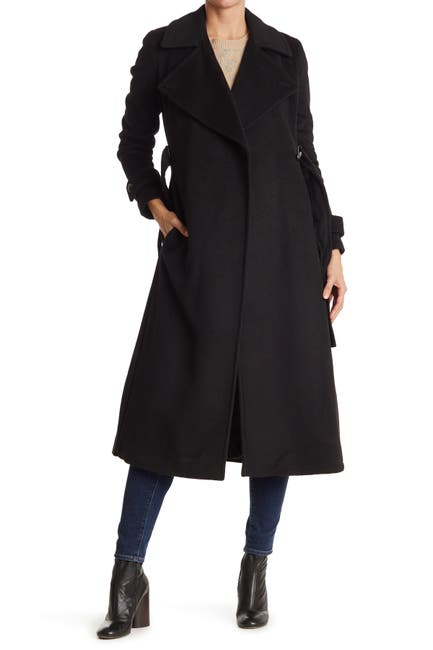 Image of Calvin Klein Maxi Wool Blend Trench Coat