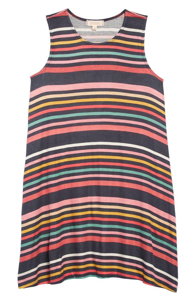 WALKING ON SUNSHINE Tank Dress, Main, color, 600