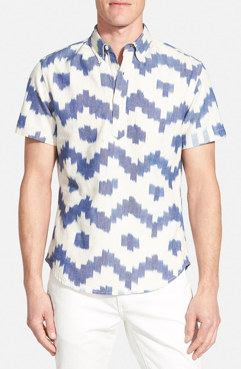 BONOBOS 'Sarasota Ikat' Slim Fit Oxford Popover Shirt, Main, color, 400