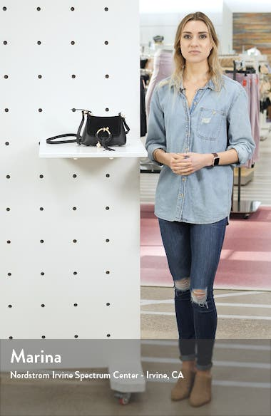 Mini Joan Leather Crossbody Bag, sales video thumbnail