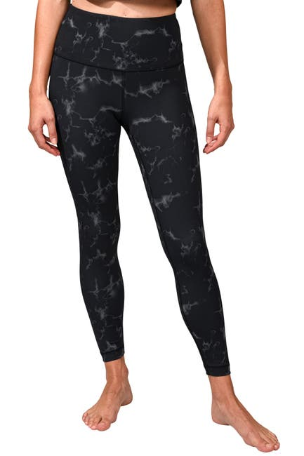 Image of 90 Degree By Reflex Interlink Printed Hi Rise Ankle Length Leggings