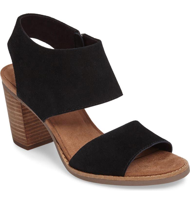 TOMS Majorca Sandal, Main, color, BLACK