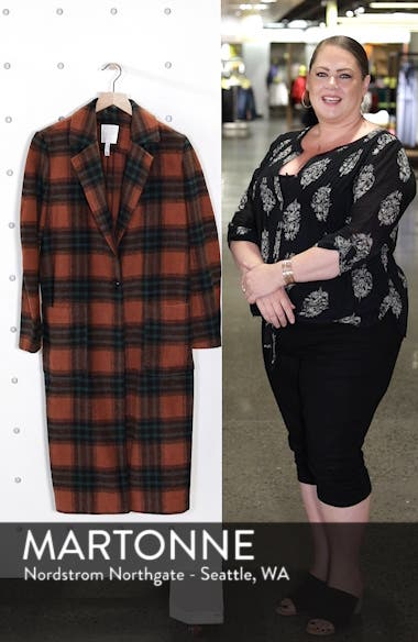 Single Button Plaid Coat, sales video thumbnail