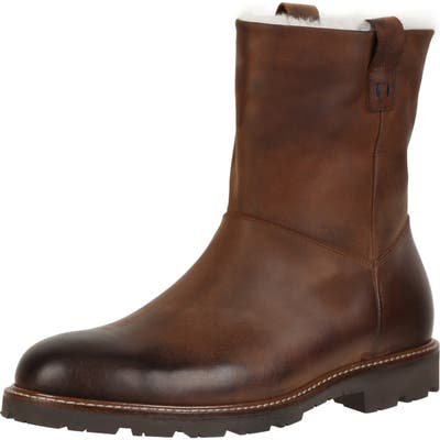 Ross & Snow Kenneth Boot With Genuine Shearling, Brown