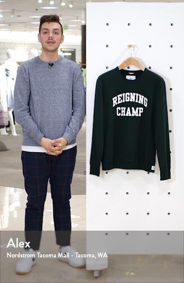 Varsity French Terry Crewneck Sweatshirt, sales video thumbnail