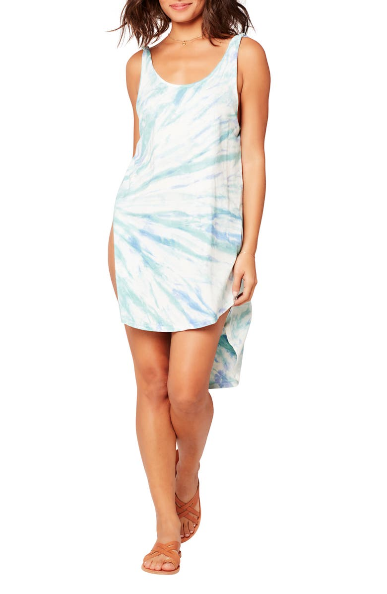 L SPACE LA Cover-Up Dress, Main, color, TIDAL WAVE TIE DYE