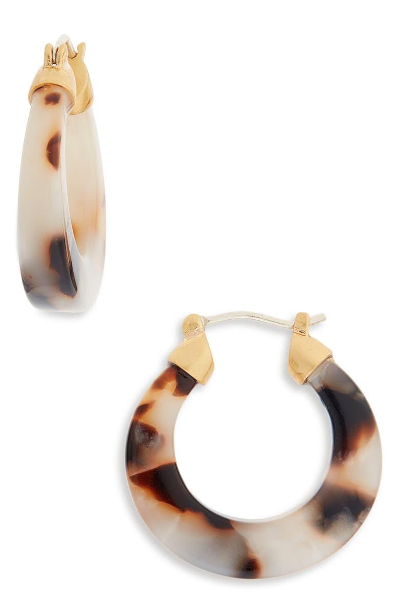 MADEWELL Acetate Hoop Earrings, Main, color, 200