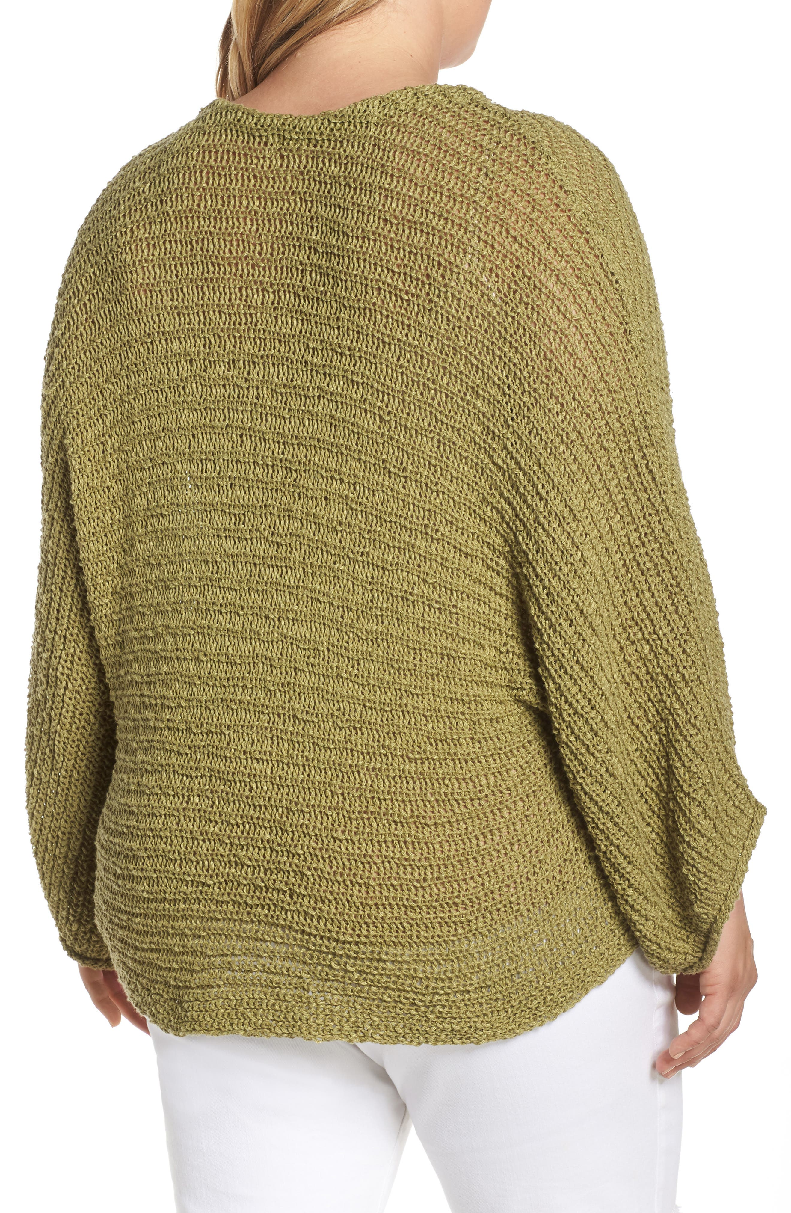 ,                             Dolman Sleeve Button Front Cardigan,                             Alternate thumbnail 4, color,                             OLIVE EMERALD
