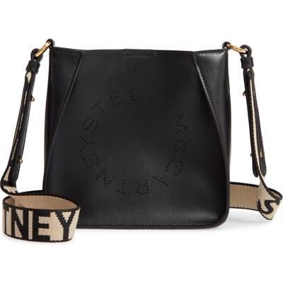 Stella Mccartney Logo Alter Nappa Faux Leather Crossbody Bag - Black
