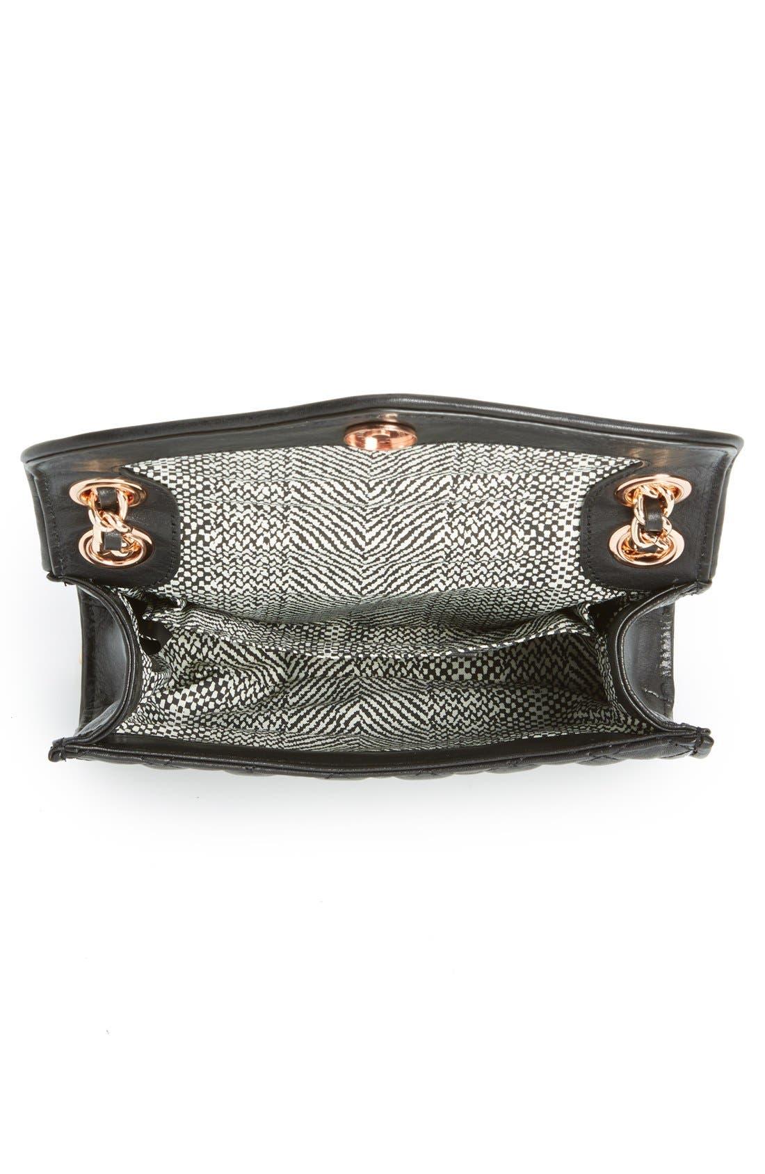 ,                             'Quilted Mini Affair' Convertible Crossbody Bag,                             Alternate thumbnail 5, color,                             001
