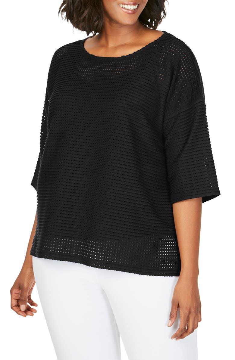 FOXCROFT Kim Sweater, Main, color, BLACK