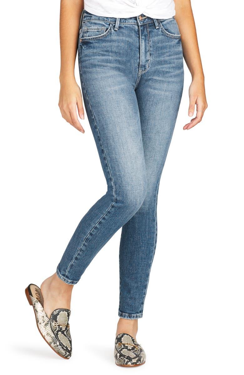 SAM EDELMAN The Stiletto High Waist Ankle Skinny Jeans, Main, color, TORI