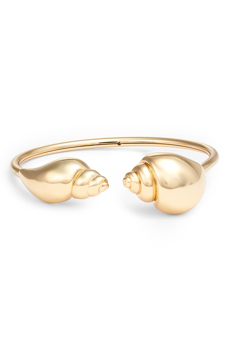 KATE SPADE NEW YORK under the sea shell ends cuff bracelet, Main, color, 711