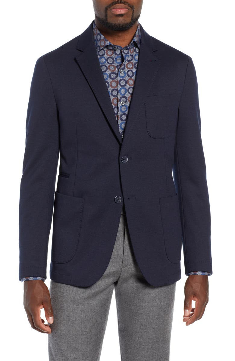 BUGATCHI Solid Sport Coat, Main, color, MIDNIGHT