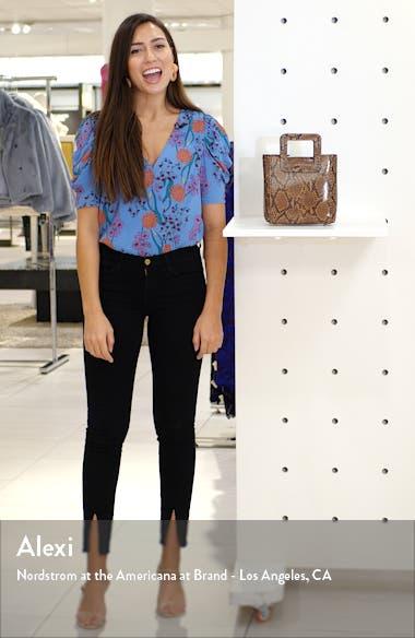 Mini Shirley Snake Embossed Leather Bag, sales video thumbnail